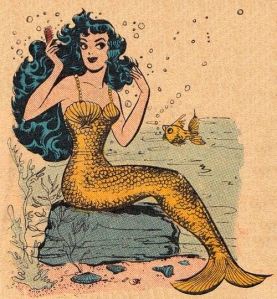 classic mermaid drawing